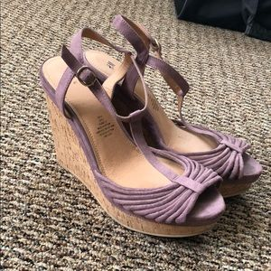 H&M Purple/Pink Wedges Size 9.5